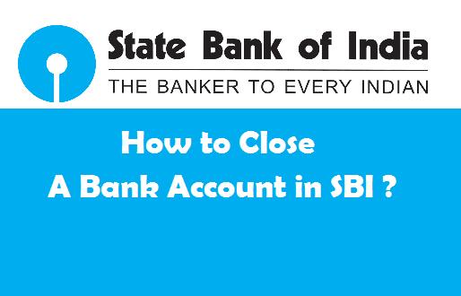 close SBI account