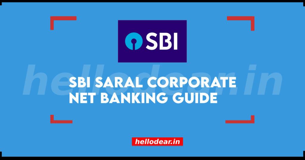 SBI Sarai Corporate Net Banking