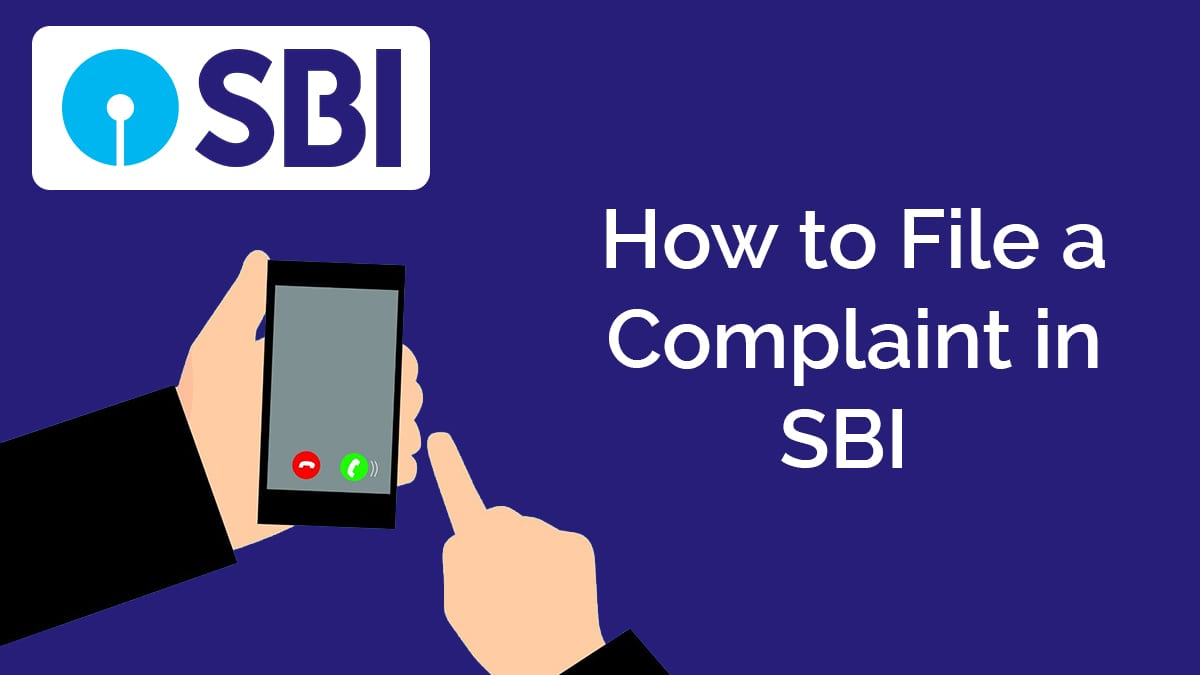 sbi complaint