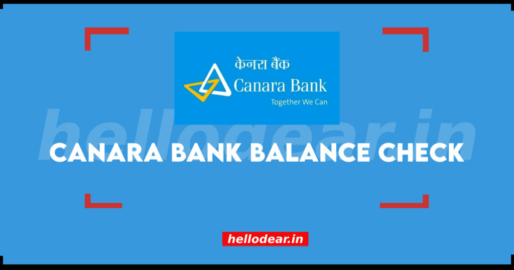 check bank balance of canara bank